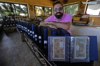 Youssef memiliki 12,282 keping wang kertas daripada pelbagai negara. - Foto Bilal Jawich/Xinhua