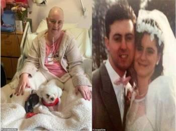 Isterinya,Helen Robinson, 46 disahkan mempunyai dua minggu kerana disahkan kanser. Foto: Liverpool Encho