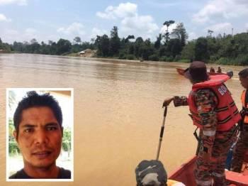 Pelbagai agensi terlibat dalam operasi mencari dan menyelamat (SAR) mangsa yang dipercayai lemas ketika memancing hari ini. (Gmbar kecil: Che Wan Abdul Manaf) - Foto ihsan bomba