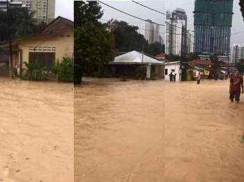 Video banjir yang tular di media sosial.