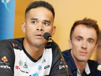 Harrif Saleh (kiri) semasa sidang media kejohanan hari ini. - Foto Bernama