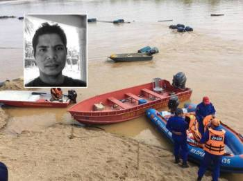 Mayat mangsa ditemukan di Sungai Pahang dekat Kampung Seboi, Kuala Krau pagi tadi.