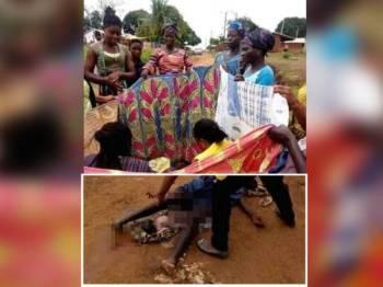 Wanita melahirkan bayi di tepi jalan gara-gara kelewatan penganggutan. - Foto Asirigbakaute