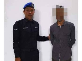 Pasukan Polis Marin berjaya menahan seorang warga Pakistan dipercayai langgar syarat pas/permit.