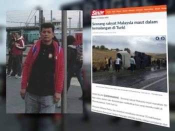 Azalan disahkan maut dalam nahas bas di Turki