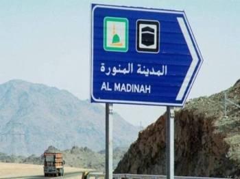 Kejadian nahas itu berlaku di laluan Hajra terletak kira-kira 170km dari Madinah.