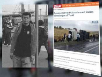 Laporan berkaitan kemalangan di Turki semalam.