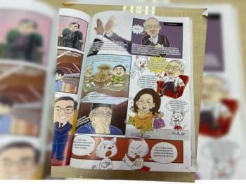 Lampiran komik yang dikongsi Najib di laman Facebooknya.