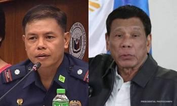 Leftenan Kolonel Jovie Espenido (kiri) dan Presiden Manila, Rodrigo Duterte.- Foto CNNPH
