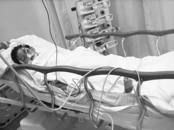 Keadaan Putri ketika dirawat di HUSM.