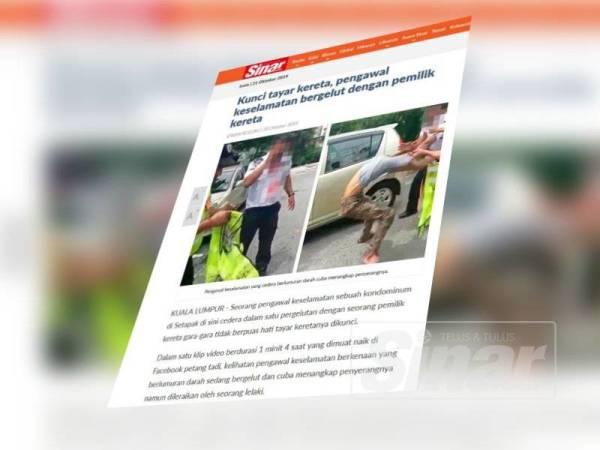 Laporan Sinar Harian Online malam tadi mengenai kejadian yang berlaku.