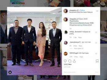 Gambar dimuat naik di Instagram Cleopatra_x3 tular di media sosial.