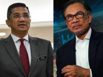 Anwar menyifatkan kenyataan Mohamed Azmin yang menyarankan supaya Dr Mahathir kekal sebagai Perdana Menteri sehingga akhir penggal sebagai kenyataan peribadi.