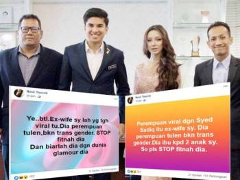 Hantaran yang dimuat naik oleh Nasir berkenaan bekas isterinya kini tular di laman Facebook.