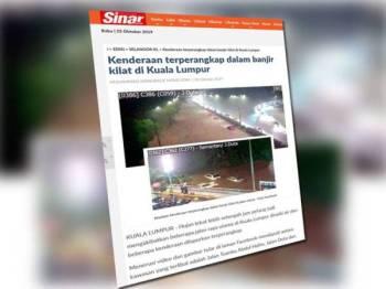 Laporan berkaitan banjir kilat yang melanda ibu negara semalam.