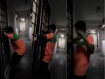 Paparan video yang menunjukkan lelaki warga asing dalam keadaan mabuk cuba memecah masuk rumah seorang wanita di sebuah pangsapuri, Damansara.