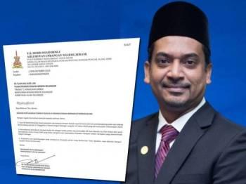 Surat dihantar Mohd Shaid kepada Suee Lim tengah hari tadi. Gambar kiri: Mohd Shaid
