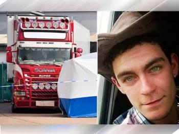 Pemandu trak itu, Robinson telah ditahan untuk siasatan lanjut susulan penemuan 39 mayat dalam kontena sejuk beku di Essex pada Rabu lalu.