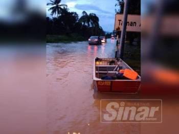 Keadaan banjir di Bukit Minyak sejak semalam menyebabkan PPS Dewan Orang Ramai Taman Sukun dibuka.