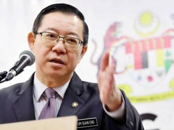 Menteri Kewangan Lim Guan Eng -Foto Bernama