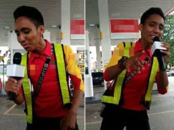 Seorang pekerja di sebuah stesen minyak di Seksyen 7, Bandar Baru Bangi memiliki suara merdu persis seorang penyanyi sebenar.