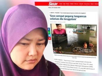 Norhayati dan Laporan Sinar Online berkaitan kejadian ini petang tadi.