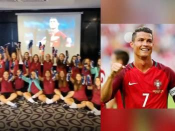 Setiap pemain skuad wanita bawah 17 tahun Portugal menerima sepasang kasut bola Mercurical Speed memberi keterujaan kepada mereka.