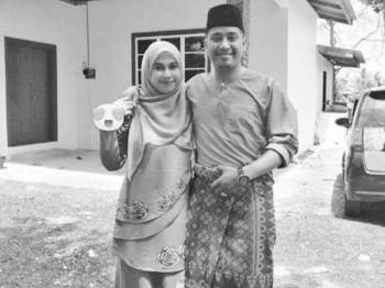 Gambar kenangan Allahyarham Muhammad Syakiran dan isteri, Nurul Ashikin yang turut terkorban dalam nahas jalan raya pagi semalam.