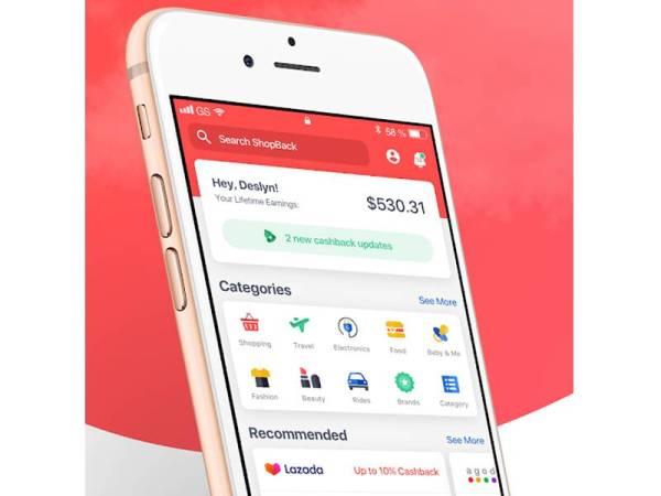 SHOPBACK aplikasi unik yang menawarkan pulangan tunai kepada pengguna.