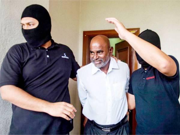 Ahli Dewan Undangan Negeri (ADUN) Seremban Jaya P. Gunasekaren didakwa di Mahkamah Sesyen hari ini berhubung kumpulan pengganas LTTE. - FOTO: BERNAMA