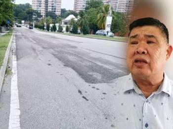 Kerajaan Selangor digesa beri keutamaan kepada projek pembaikan jalan dan menambahkan peruntukan bagi tujuan itu dalam pembentangan Belanjawan Selangor 2020 esok. Gambar kanan: Kuan Chee Heng