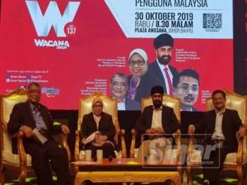 Barisan panel Wacana Sinar ke-137 Barangan Buatan Malaysia: Persepsi dan Peranan Pengguna Malaysia, semalam.