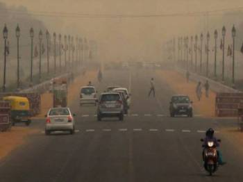 Keadaan pencemaran udara di New Delhi. - Foto Agensi