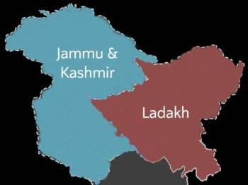 Jammu & Kashmir dan Ladakh diletakkan sebagai kesatuan wilayah yang akan ditadbir secara terus oleh India.