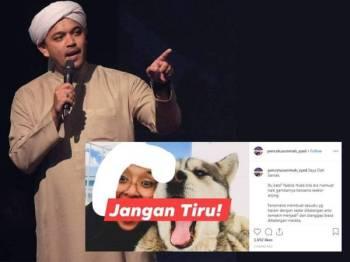 Paparan Instagram PU Syed.