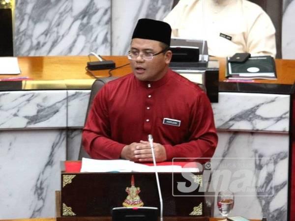 Amirudin ketika membentangkan Belanjawan Selangor 2020 hari ini. - Foto: Asril Aswandi Shukor