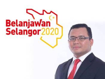 Belanjawan Selangor 2020. Gambar kanan: Amirudin