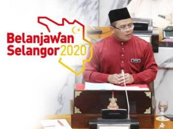 Amirudin ketika pembentangan Belanjawan Selangor 2020 hari ini.