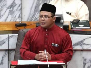 Amirudin ketika membentangkan Belanjawan Selangor 2020 hari ini. - FOTO ASRIL ASWANDI SHUKOR