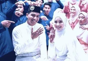 SELAMAT pengantin baharu Eyra Hazali, Haziq Nadzli