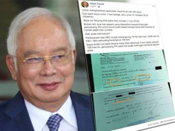 Najib memuat naik surat cuti sakit yang membuktikan beliau hanya mendapat cuti sakit selama sehari bukannya dua hari seperti yang diura-urakan oleh penyokong PH