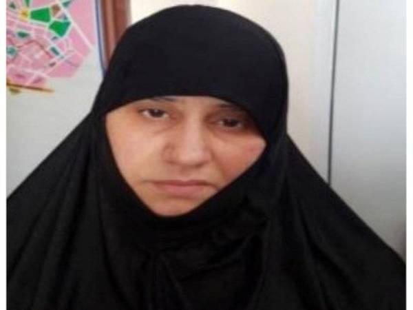 Asma Fawzi Muhammad Al-Qubaysi dipercayai isteri pertama al-Baghdadi ditahan Turki dalam sebuah operasi di wilayah Hatay pada Jun 2018.