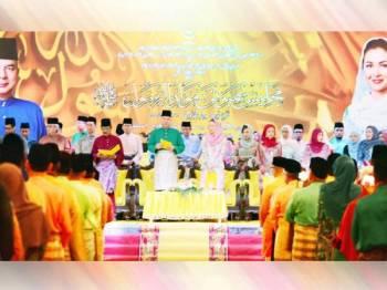 Sultan Nazrin bersama Tuanku Zara berkenan menghadiri Sambutan Maulidur Rasul peringkat negeri Perak di Pusat Konvensyen Casuarina@Meru, Bandar Meru Raya hari ini. -Foto: Bahagian Korporat Pejabat Suk Perak.