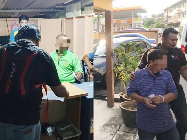 Penguatkuasa JHEAINS semasa melakukan serbuan di sebuah rumah di Jalan Bunga Mawar, Kampung Sri Repah, Tampin Jumaat lalu. Salah seorang tertuduh yang ditahan dalam serbuan membabitkan ajaran sesat di Tampin.