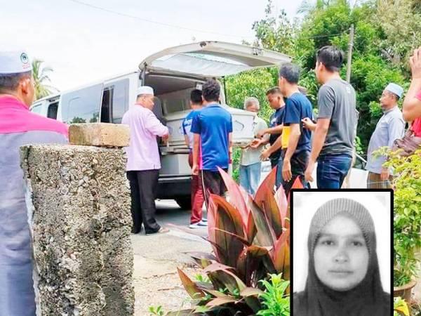 Jenazah selamat dikebumikan pada jam 2 petang di Tanah Perkuburan Islam Felda Chiku 01 hari ini.Gambar kecil: Asiah