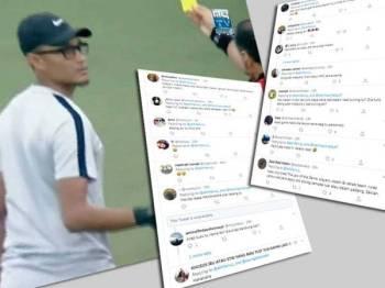Video memaparkan pembantu perubatan Malaysia dikenakan kad kuning ketika menentang Thailand di Stadium Olimpik Nasional di Phnom Penh, Kemboja semalam.