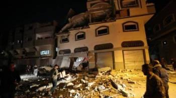Rumah Ata yang musnah akibat dibedil rejim Zionis awal pagi tadi.
