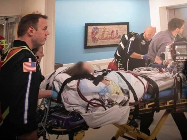Remaja itu ketika dipindahkan ke Hospital Henry Ford di Detroit pada awal Oktober lalu.