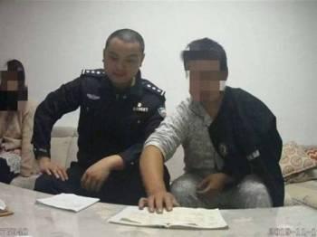 Si suami berjaya diselamatkan oleh polis gara-gara tertekan isteri boros sempena 'sale 11.11'. - Foto China Press