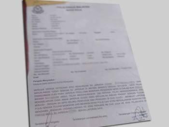 Laporan polis yang tular di media sosial berhubung seorang Setiausaha Japerun yang didakwa menggelapkan wang untuk tujuan peribadi.